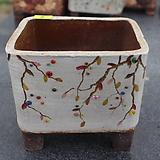 8. 은가비 꽃그림 수제화분|Handmade Flower pot