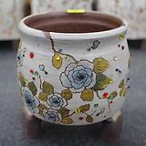 11. 은가비 꽃그림 수제화분|Handmade Flower pot