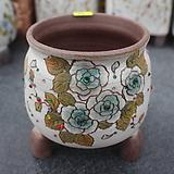 12. 은가비 꽃그림 수제화분|Handmade Flower pot