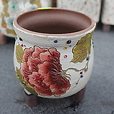 13. 은가비 꽃그림 수제화분|Handmade Flower pot
