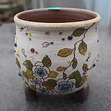 16. 은가비 꽃그림 수제화분|Handmade Flower pot