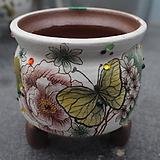17. 은가비 꽃그림 수제화분|Handmade Flower pot
