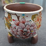 18. 은가비 꽃그림 수제화분|Handmade Flower pot