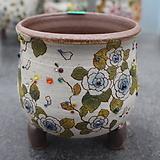 19. 은가비 꽃그림 수제화분|Handmade Flower pot