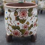 23. 은가비 꽃그림 수제화분|Handmade Flower pot
