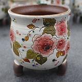 24. 은가비 꽃그림 수제화분|Handmade Flower pot