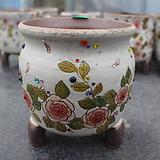 26. 은가비 꽃그림 수제화분|Handmade Flower pot