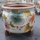 27. 은가비 꽃그림 수제화분|Handmade Flower pot