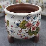37. 은가비 꽃그림 수제화분|Handmade Flower pot