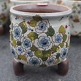 40. 은가비 꽃그림 수제화분|Handmade Flower pot