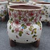 41. 은가비 꽃그림 수제화분|Handmade Flower pot