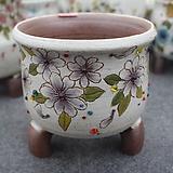 43. 은가비 꽃그림 수제화분|Handmade Flower pot