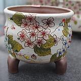 44. 은가비 꽃그림 수제화분|Handmade Flower pot