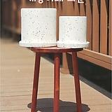 098 원통형 시멘트 화이트 테라조(인조대리석) 화분 15×15, 20×20|
