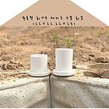 101 원통형 테라조 화이트 소품 화분 (11×11, 11×15)|