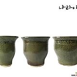 여주자기 (쑥색)화분/도자기화분/화분/국산화분/도자기/나라아트 