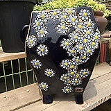 지다 대품 수제 꽃 화분 (코발트블루 색상)|