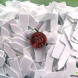 이름표 라벨 - 2.5 x 1 cm 사각백색 (100개) 