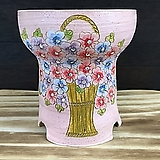 스왈로브스키 최고급 국산수제화분-0366|Handmade Flower pot