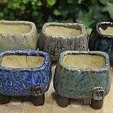 수제화분 봄날공방 미니사각유약분셋트|Handmade Flower pot