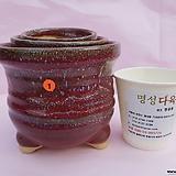 수제화분 3개셋트 06-001(유광 밤색)|Handmade Flower pot