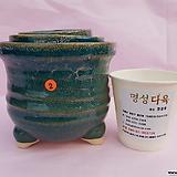 수제화분 3개셋트 06-002 (유광 그린색)|Handmade Flower pot