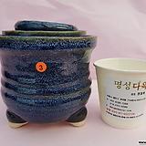 수제화분 3개셋트 06-003(유광 남청색)|Handmade Flower pot