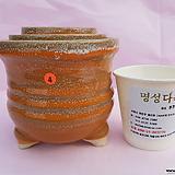 수제화분 3셋트 06-004 (유광 황토색)|Handmade Flower pot