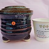 수제화분 3셋트 06-005 (유광 남색)|Handmade Flower pot