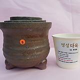 수제화분 3개셋트 06-008 (무광 흑색)|Handmade Flower pot