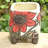 봄날공방 수제화분 사각그림분|Handmade Flower pot