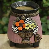 봄날공방 코사지수제화분|Handmade Flower pot