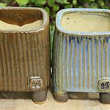 수제화분 봄날공방 사각유약2개셋트|Handmade Flower pot