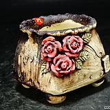도향)사각 원형 주머니 꽃분14 