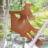 빗자루타는마녀 - 정원장식 철제 마당 화단 꽃밭 연못 꾸미기 홈가드닝 인테리어소품 