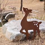 꽃 사슴 - 정원장식 철제 마당 화단 꽃밭 연못 꾸미기 홈가드닝 인테리어소품 