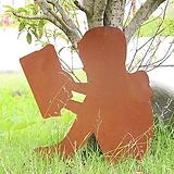 앉아서 책읽는 소년 - 정원장식 철제 마당 화단 꽃밭 연못 꾸미기 홈가드닝 인테리어소품 
