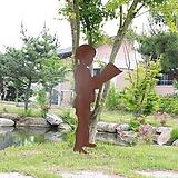 서서 책읽는 소년 - 정원장식 철제 마당 화단 꽃밭 연못 꾸미기 홈가드닝 인테리어소품 