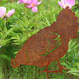 암탉 - 정원장식 철제 마당 화단 꽃밭 연못 꾸미기 홈가드닝 인테리어소품 