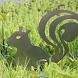 다람쥐 분리형 - 정원장식 철제 마당 화단 꽃밭 연못 꾸미기 홈가드닝 인테리어소품 