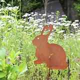 토끼 - 정원장식 철제 마당 화단 꽃밭 연못 꾸미기 홈가드닝 인테리어소품 