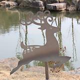 루돌프 - 정원장식 철제 마당 화단 꽃밭 연못 꾸미기 홈가드닝 인테리어소품 