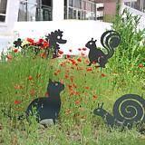 동물 4종 - 정원장식 철제 마당 화단 꽃밭 연못 꾸미기 홈가드닝 인테리어소품 