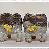 매헌수제분 2종셋트 79146 Handmade Flower pot