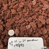 천연화산석 벽돌색 약10-20mm 1kg(화장토,복토,마감토,장식돌,장식자갈)|