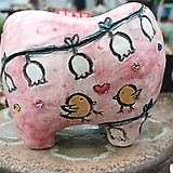miss park 수제화분 주물럭 꽃그림분  No.0012 Handmade Flower pot