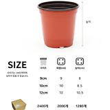 낱개 판매 이색포트 플분 플라스틱화분 화분 연질화분 모종화분 씨앗화분 모종포트|