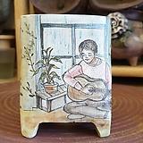 란 수제화분  (LAN) 그림분  No.0001 [premium handmade] - 다육화분 Handmade Flower pot