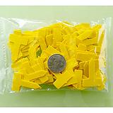 원예용 정품 티자이름표 2.5cm 노랑 100개 식물이름표|