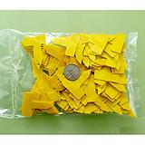 원예용 정품 티자이름표 3.5cm 노랑 100개 식물이름표|